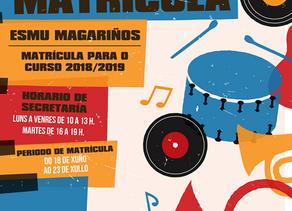 A Escola Municipal de Música Magariños abre o período de inscricións para o curso 2018/2019