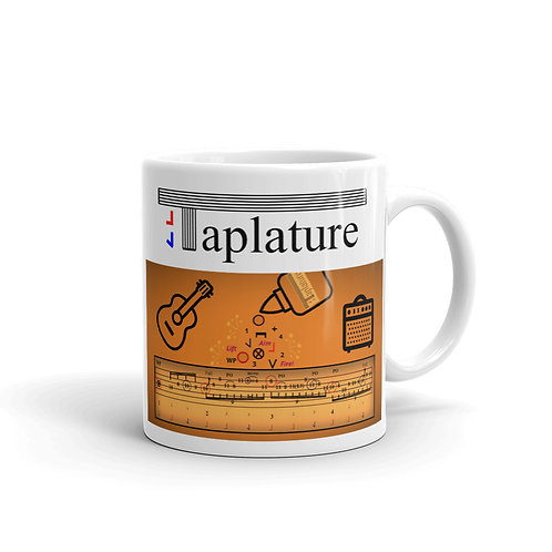 Taplature Mug: Guitar practice, coffee and Taplature. The perfect combination!