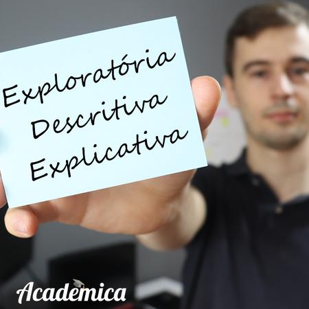 Pesquisa exploratória, descritiva ou explicativa