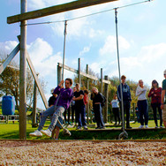 Rope Swing Skern Lodge assault course