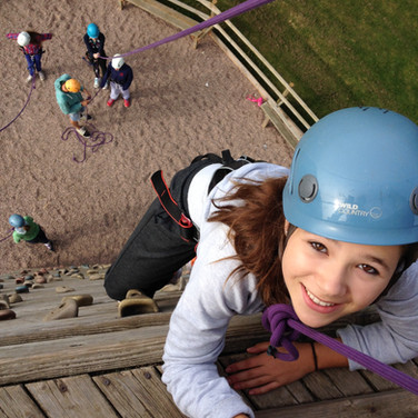 Skern Lodge climbing wall