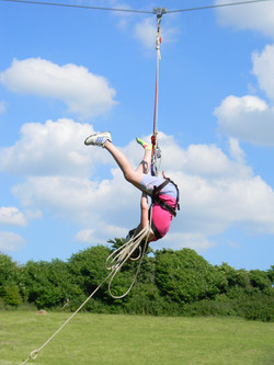 Travelling on the zip wire