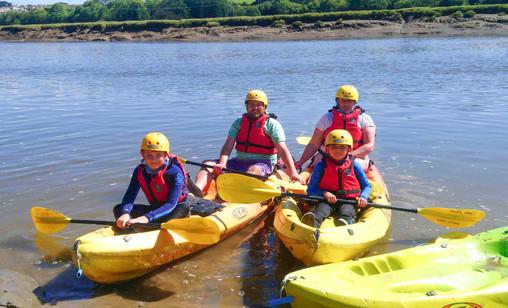 Family Kayak group