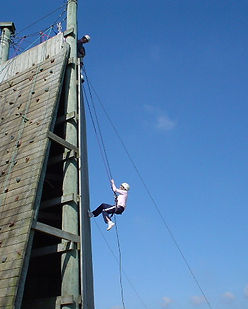 Abseiling at Skern Lodge