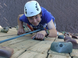 On the Skern climbing wall