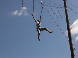 On the Skern high ropes course.
