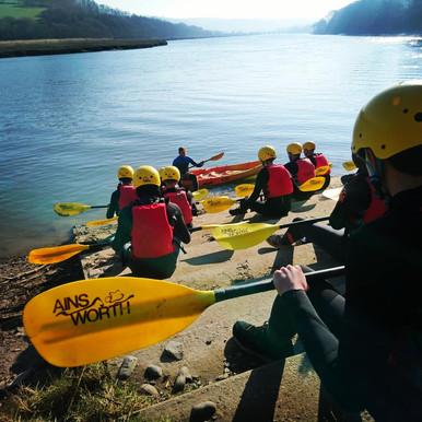 Preparing to Kayak
