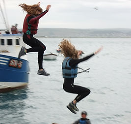 Quay jumping with Skern Lodge
