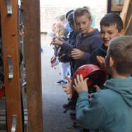 Getting equipment at Skern Lodge