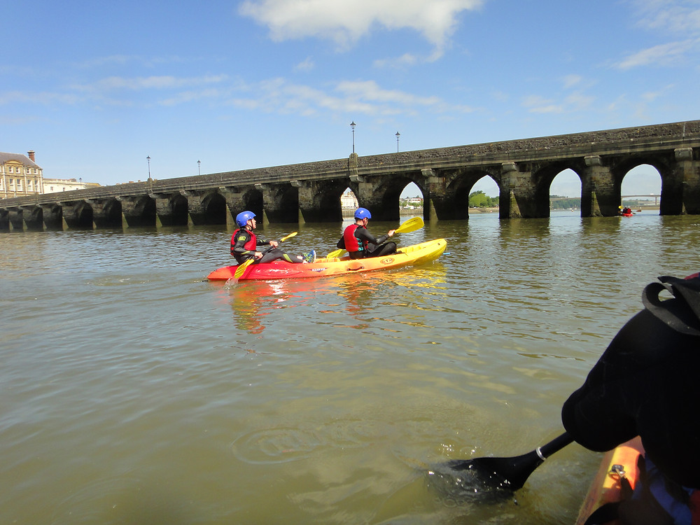 Sit-on-top kayaking, Bideford Bridge