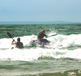 Surfski with Skern Lodge