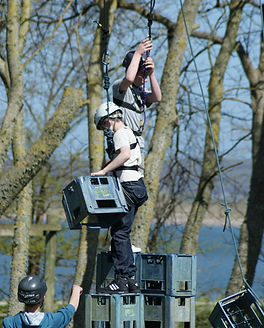 Crate Stacking at Skern Lodge