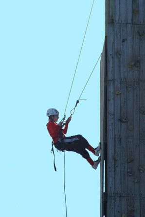 Abseiling on the Skern tower