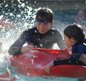Pool kayak with Skern Lodge