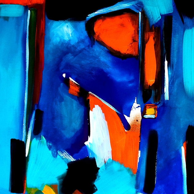 Bleu absolu - 22x28 - acrylique et encre