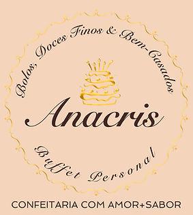 Logo Anacris Bolos, Doces Finos e Bem-Casados