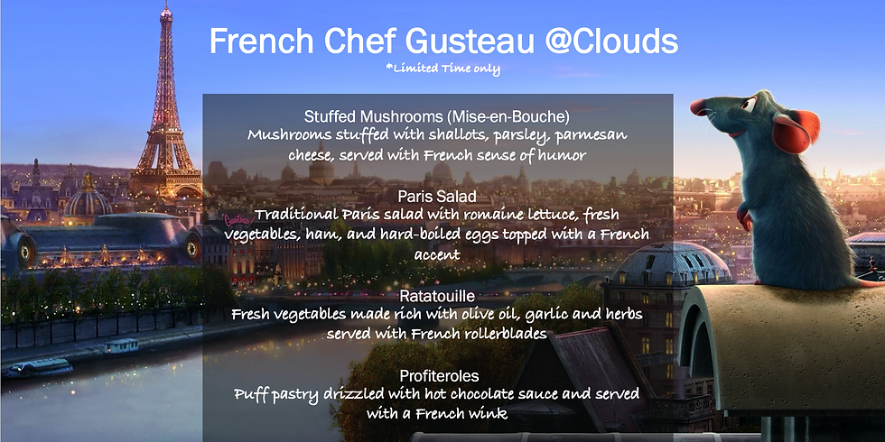 French Chef Gusteau @Clouds