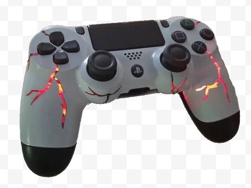 Ps4 techfire Red Thunder wireless light up controller. Led controller Custom con
