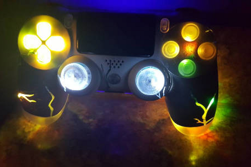 Ps4 Wireless LED controller YELLOW PlayStation 4