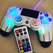 PS4 • White TechFire Smart LED **Slash** wireless controller • gift • playstatio