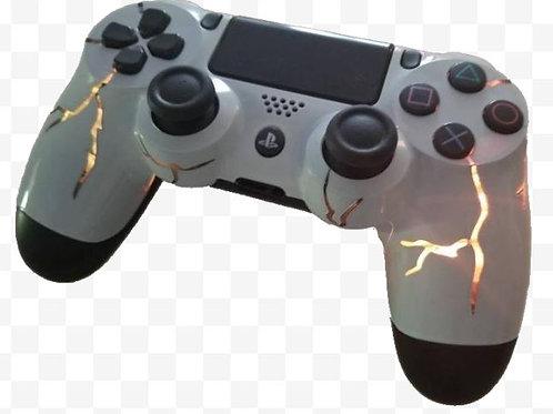 Dualshock4 Orange LED light up controller. Techfire custom made. Ps4 sony lightn