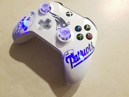 XBOX one S Patriots TechFire LED controller • NFL controller • football controll