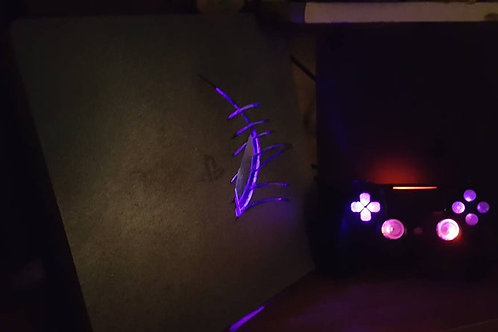 PlayStation4 Custom LED + techfire controller custom made PS4 • light up gaming