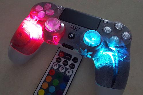PS4 TechFire custom LED smart controller+ remote  пользовательский светодиод
