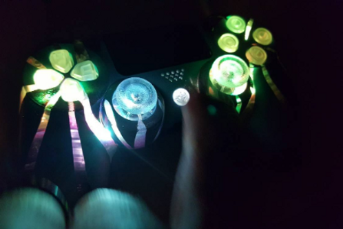 PS4 controller Fire Lotus by TechFire custom ps4 led gamepad