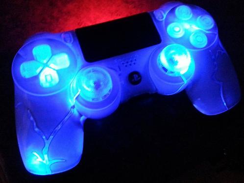 "PS4 custom wireless Sony controller ""blueberry"" Dualshock4 backdrop"