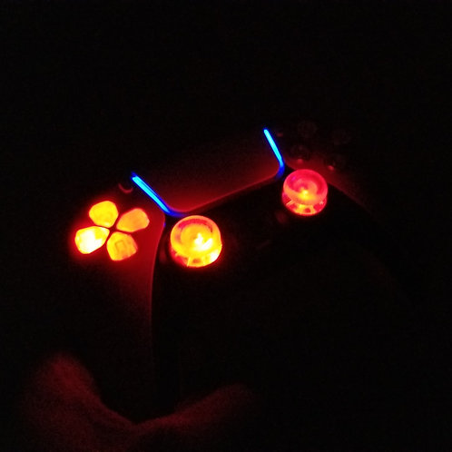 Playstation5 * PS5 techfire controller * lightup LED gift RED