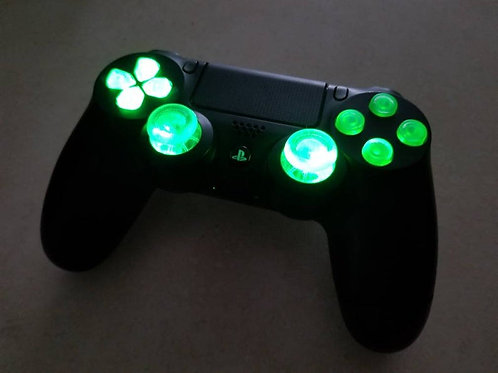 PS4 Techfire LED wireless Green controller