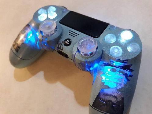 PS4 Rick and Morty wireless controller by Techfire custom with Remote for lights