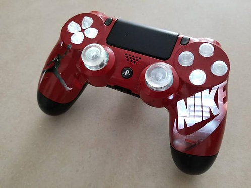 PS4 White LED techFire wireless controller Nike Jumpman