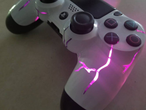 PS4 Techfire pink thunder wireless LED controller* light up controller * custom