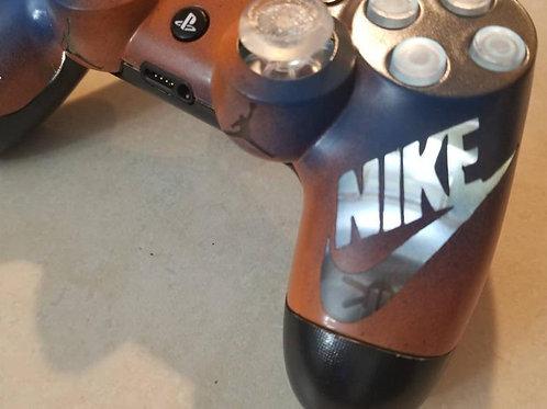 PS4 NIKE Orange+Blue wireless LED controller techfire • custom handmade• game pa