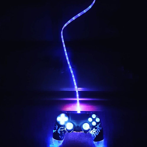 Back to the Future PS4 LED wireless controller with light up charge cable