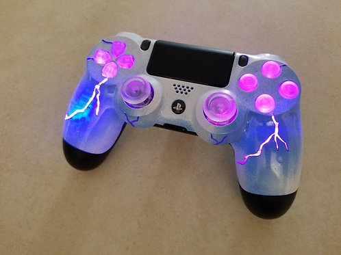 Ps4 wireless LED Purple Storm techfire controller * custom made * gift * christm