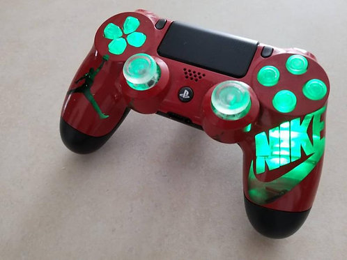 PS4 LED TechFire controller GREEN Nike
