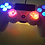 Thumbnail: TechFire PS4 LED wireless controller Red Splatter