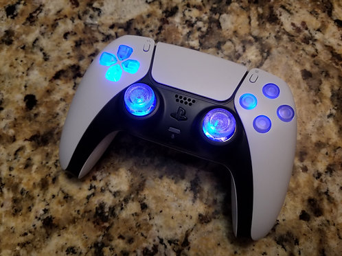 PS5 TechFire LED BLUE wireless controller Playstation 5 *gift*video game