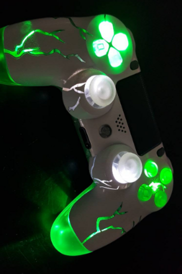 "PS4 TechFire LED wireless controller ""Monster green"""