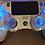 "Thumbnail: PlayStation 4 wireless LED controller ""Lightning bolt blue"" backdrop"