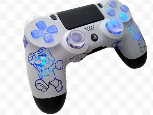 Ps4 led wireless controller Custom made Techfire controller Toad italian plumber