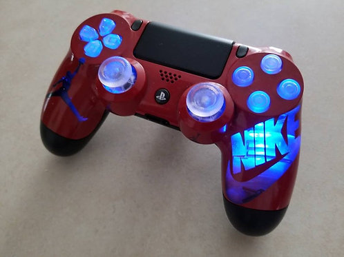 PS4 Nike LED Dualshock4 wireless Techfire controller custom made * gaming contro