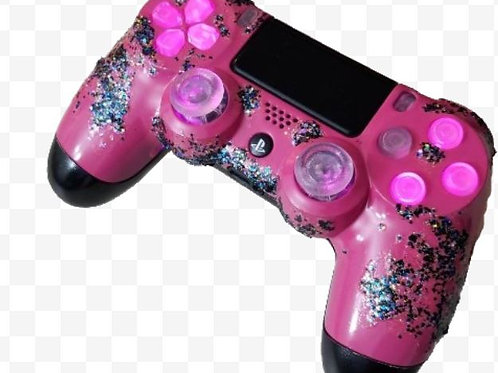 Princess LED sparkles controller by techfire PS4 dualshock4 • sony playstation •