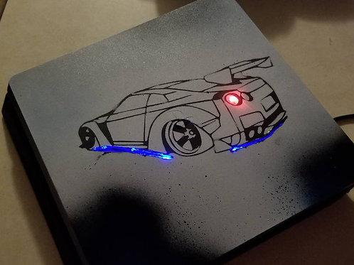 PS4 slim console LED custom techfire console only