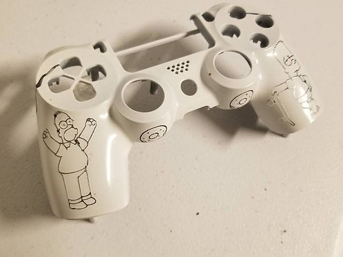 Custom Techfire PS4 front housing homer run Bart • dualshock4 light up • gaming
