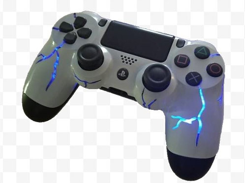 Ps4 Blue thunder wireless led controller, light up controller, light up gift. Te