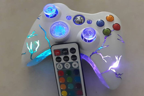 "Xbox360 ""arcade fire"" xbox wireless Techfire Smart LED controller+remote gaming"